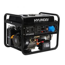 Генератор Hyundai HHY 7000FE со счетчиком моточасов и колесами